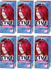 6X Schwarzkopf Live Semi Permanent Color XXL Ultra Brights 92 Pillar Box Red