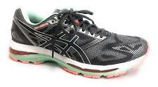 ASICS Women's Gel-Nimbus 19 Running Shoe, Carbon/White/Flash Coral, 9.5 2A US