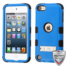 iPod Touch 5th/ 6th Gen Hybrid Tuff Case Cover Blue with Stand +Screen Protector