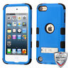 iPod Touch 5 6 5th/ 6th Hybrid Tuff Case Cover Blue with Stand +Screen Protector