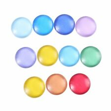 12mm 10 Random Mixed Candy Color Round Glass Cabochons Dome Flat Back Beads Lot