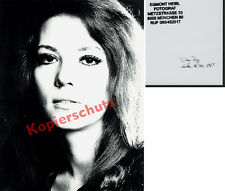 ORIG. foto retrato Diana Rigg Studio munich Avengers Emma Peel James Bond 1969!