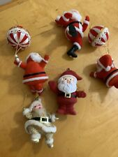 VTg 5 Red & Hold  Santa Claus On Balloons  Christmas Ornaments C1