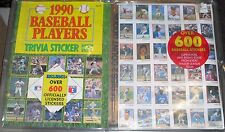 1990 Publications Int'l Stickers COMPLETE UNCUT SEALED Puckett Griffey Jr Ryan