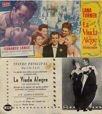 Programa PUBLICITARIO de CINE: La Viuda Alegre. Lana Turner.