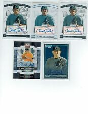 (5) 2009 CHAD JENKINS ROOKIE AUTO LOT 2 STERLING 1 STER REF 025/199 BOW CH ELITE