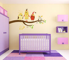 "Silly Birds kids room vinyl wall decal graphics 36""x22"" Home Decor"
