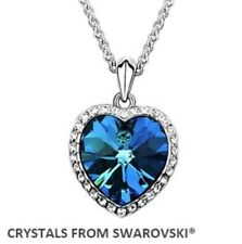 CUORE ciondolo collana fatta con cristalli swarovski regalo di compleanno per Fidanzata