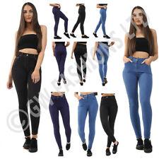 Womens Ladies Stretchy Denim Look Skinny Jeggings Leggings Trouser Pants legging