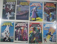 Justice Lot of 8 #17,18,19,20,21,22,23,24 Marvel 1988 Comic Books 1st Print
