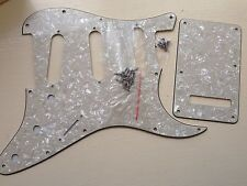 SCRATCH PLATE & TREM COVER Set SSS fits USA/Mex Stratocaster Vintage Cream Pearl