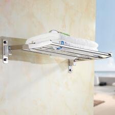SUS Bathroom Hand Towel Rack Holder Storage Organiser Shelf Wall Mounted Hanger