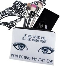 New Cosmetic Bag Makeup Travel Organizer Bags Beauty Case Cat Eye Design