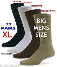 12 Pairs BIG MENS Physicians Choice VENTILATED Diabetic Variety Crew Socks