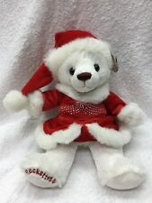 Radio City Christmas Spectacula Rocketed Bear Plush Red Sparkle Dress Outfit Toy