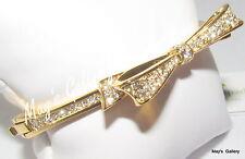 Kate Spade Handbag Bow bangle Bracelet Gold tone Bangles Bracelets NWT KSNY