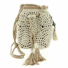 The Sak Sayulita Crochet Mini Drawstring Bag Natural