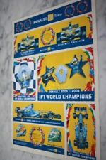 Plaquette STICKERS/AUTOCOLLANTS F1 WORLD CHAMPIONS - RENAULT 2005/2006 ALONSO F.
