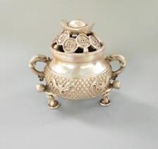 Chinese pure white copper yuan bao Incense burner
