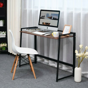 Home Office Small Computer Desk Folding Laptop Study Game PC Table Metal Frame