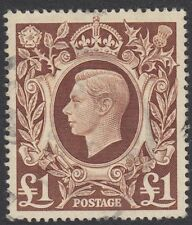 GB : 1948   £1 brown   SG478c  fine  used