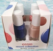 essie RESORT 4-pc Mini Nail Lacquer Polish Cube Set~ Suite Time Stones Cocoa NIB