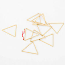 10pcs Gold Tone Stainless Steel Triangle Connectors for DIY Jewelry Findings