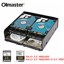 """OImaster 2.5"""" 3.5"""" HDD SSD to 5.25"""" Floppy-Drive Bay Mounting Bracket for Laptop"""