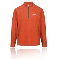 Regatta Mens Montes Half Zip Fleece Top - Orange Sports Outdoors Warm Breathable