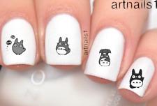 Totoro Anime Nail Art Nails Water Decals Stickers Salon Polish Manicure Mani