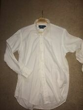 Ralph Lauren Men's  White Yarmouth Shirt L