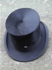 Antique. Continental Black Silk Top. Hat Sz 7 - 7 1/8 ..