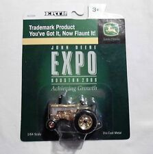 John Deere Tractor - 2008 Houston Expo  1/64 Scale Die Cast Metal GOLD ERTL