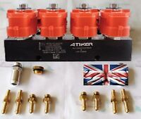 NEW VALTEK Type ATIKER LPG-CNG-GPL Injector Rail 4 cyl Injectors 3 OHM