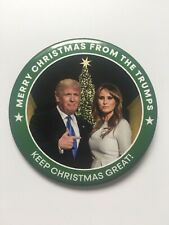 "2020 Re-Elect President Donald Trump 3"" Button Merry Christmas from the Trumps"