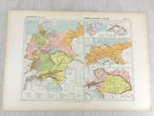 1888 Antique French Map of Germany Austria Prussia Austro Hungarian Empire