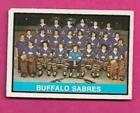 1974-75 OPC # 337 SABRES LIGHT MARKED TEAM CHECKLIST  CARD (INV# C0278)