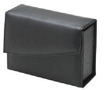 Fatip Black Leather Shaving Case