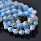 New 30pcs 8mm Bicone Faceted Glass Loose Spacer Colorized Beads Deep Blue