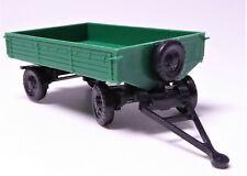 H0 Modelltec Landwirtschaftlicher Anhänger Pritsche Hänger grün DDR # 14180804jä