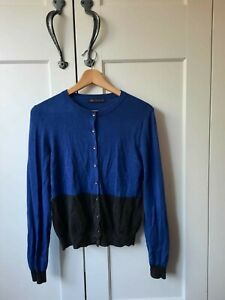 M&S Royal Blue & Grey Cardigan, Size 12, New Condition