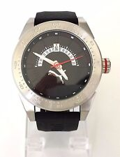 Puma caballero reloj Time negro plata rojo de silicona fecha pu104201001