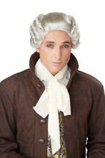 18th Century Peruke Grey Judge Colonial Men Costume Wig