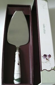 ROYAL HORTICULTURAL SOCIETY SWEET PEA CERAMIC HANDLE, STAINLESS STEEL CAKE SLICE