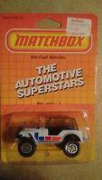 1987 Matchbox MB 37 Jeep 4X4 white Brand New In The Box mib nib nip