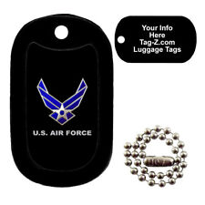 AIR FORCE LOGO - CUSTOMIZED - LUGGAGE TAG - TAG-Z MILITARY DOG TAGS
