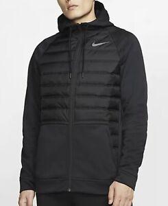 Nike Therma Winterized Full Zip Black Insulated Training Jacket Size Xl