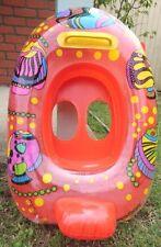 Inflatable Toddler Baby Kids Swim Ring gift Float orange fish 6-36 months