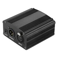 48V DC Phantom Power Supply For Condenser Recording Microphone +US Power ED