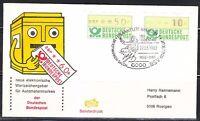 Germany 1982 cover Goethe & 150 todestag Briefmarken Salon BSV Merkur 04 ATM